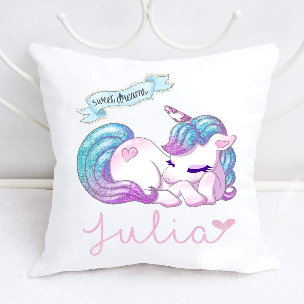 Unicorn cadeau Naam kussen naamkussen geboortekussen