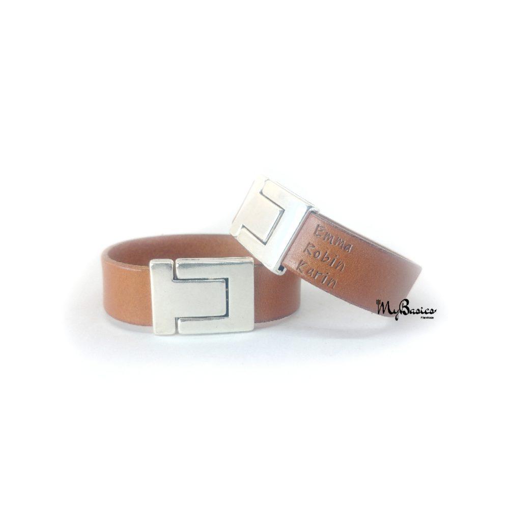 leer-armband-naamarmband