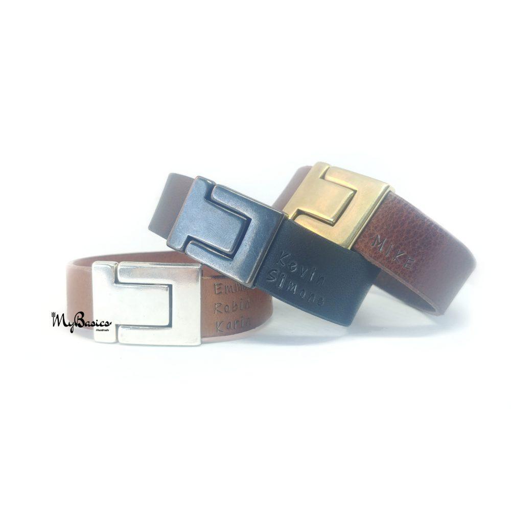 armband-leer-herenarmband-naamarmband